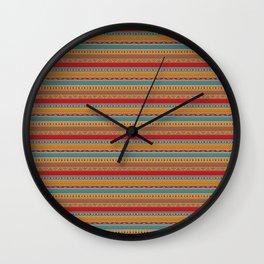 Tribal ethnic seamless pattern design Wall Clock