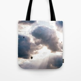 Hot Air Ballon Festival Sunrise Tote Bag