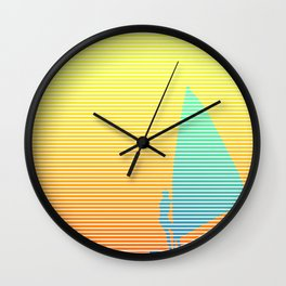 Summer Windsurfer Wall Clock