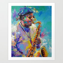 Soulful Charles Art Print
