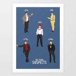 The Usual Suspects, Kevin Spacey, minimalist movie poster, Gabriel Byrne, Singer, Benicio Del Toro, Art Print