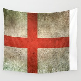 Old and Worn Distressed Vintage Flag of England Wall Tapestry