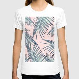 Blush Palm Leaves Dream #1 #tropical #decor #art #society6 T-shirt