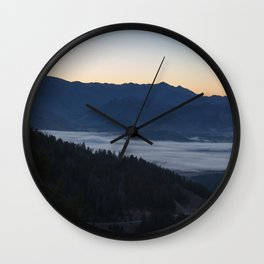 Clouds From Above Wall Clock