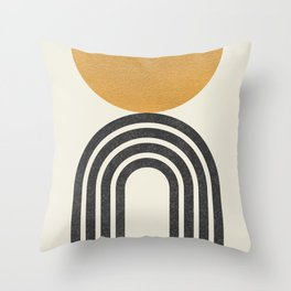 Mid century modern - half sun arch Throw Pillow