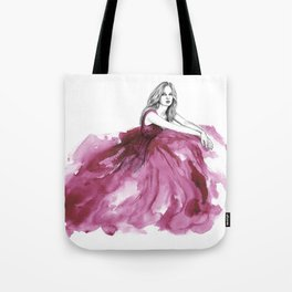 Gown Pink Tote Bag