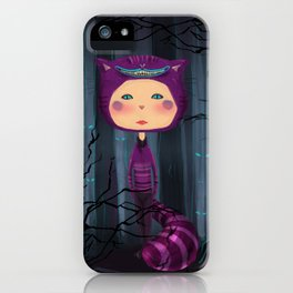 alice purple cat iPhone Case
