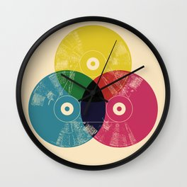 Music is the colors of life Wall Clock