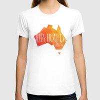 australia T-shirts featuring Australia by Stephanie Wittenburg