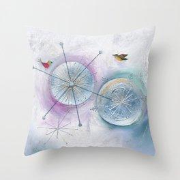 Winter Solstice Dance Throw Pillow