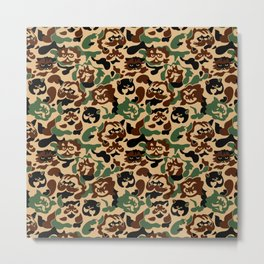 Cat Camouflage Metal Print