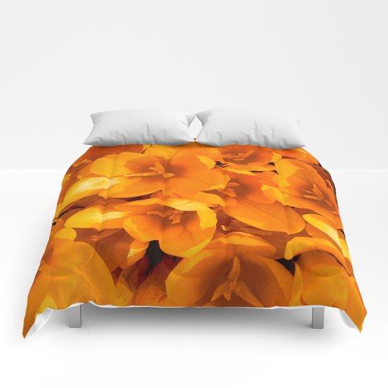 Gold in the garden Comforters