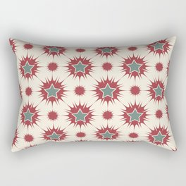 Retro Christmas Stars Rectangular Pillow