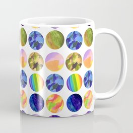Hand painted neon colors watercolor moon planet Coffee Mug