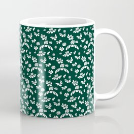 Green Floral Coffee Mug