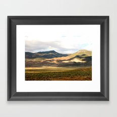 Shadows on the Mountains Framed Art Print