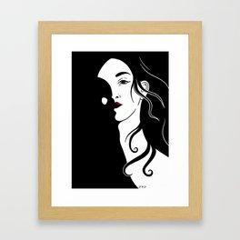 Lady in the dark Framed Art Print