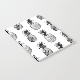Black-and-white pineapples Notebook