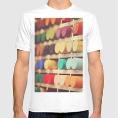 Colors MEDIUM Mens Fitted Tee White