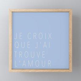 I Think I'm Falling in Love Framed Mini Art Print