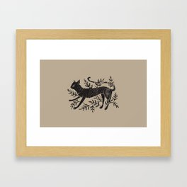 Cat in Vines Framed Art Print