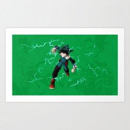 Deku - One for all Art Print