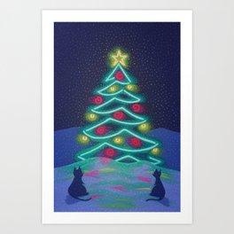 Bright December Night Art Print