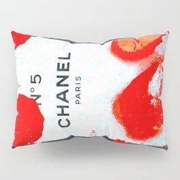 No 5 Red Splash Pillow Sham