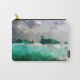 Blue Skies and Beach Geometrical Abstract Carry-All Pouch
