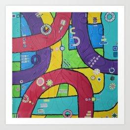spaghetti roads Art Print