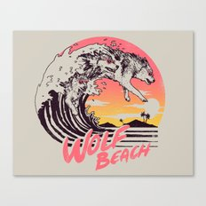 Wolf Beach Canvas Print