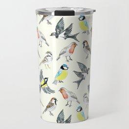 Illustrated Birds Travel Mug