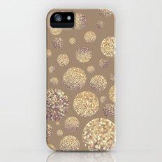 Bokeh Dots-Cafe Latte iPhone (5, 5s) Slim Case