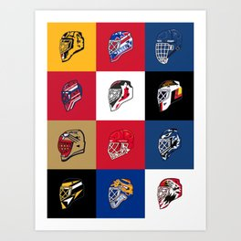 90's Goalie Masks Art Print