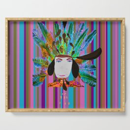 My Grandmother | Native American |Kids Painting |Pop Art Serving Tray