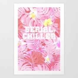 Blush pink tropical serial chiller Art Print