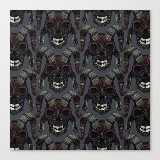 demon skull charcoal Canvas Print