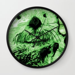 Green Sea Otter Wall Clock