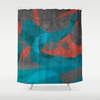 calligraphy Shower Curtains featuring Calligraphy by Imad Hasan