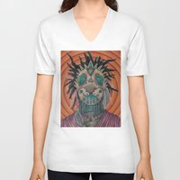 architect V-neck T-shirts featuring The Architect by Joel Perez