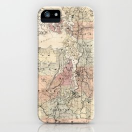 Vintage Map of The Puget Sound (1891) iPhone Case