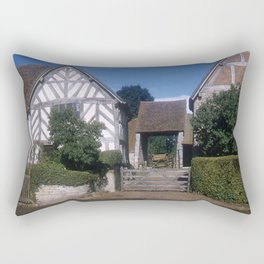 Mary Arden Home * 1950's * Barnyard * Stratford * England * Kodachrome * English Art Print Rectangular Pillow