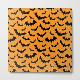Halloween Bats Pattern Metal Print