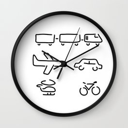 turn mobility travel Wall Clock