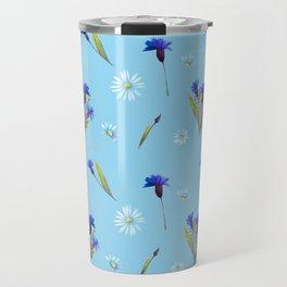 Chamomile and Cornflower pattern Travel Mug