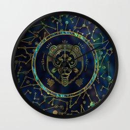 Leo Zodiac Gold Abalone on Constellation Wall Clock