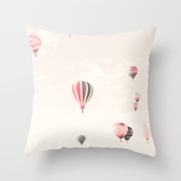 Hot Air Balloons, White Deko-Kissen