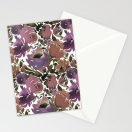 Soft Lilac Blossom and Foliage on White  Stationery Cards