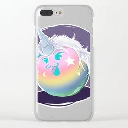 Rainbow Unicorn Yato Dango Clear iPhone Case