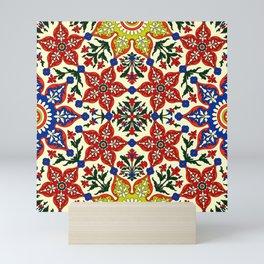 Iznik — Turkish pattern 23 Mini Art Print
